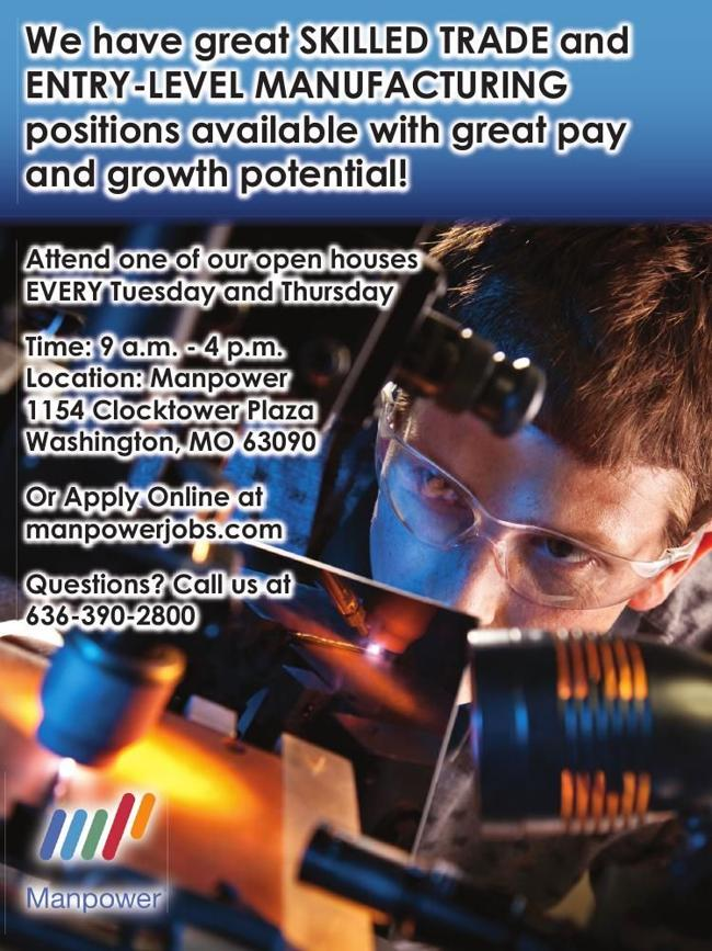 Skilled Trade / Entry - Level Manufacturing