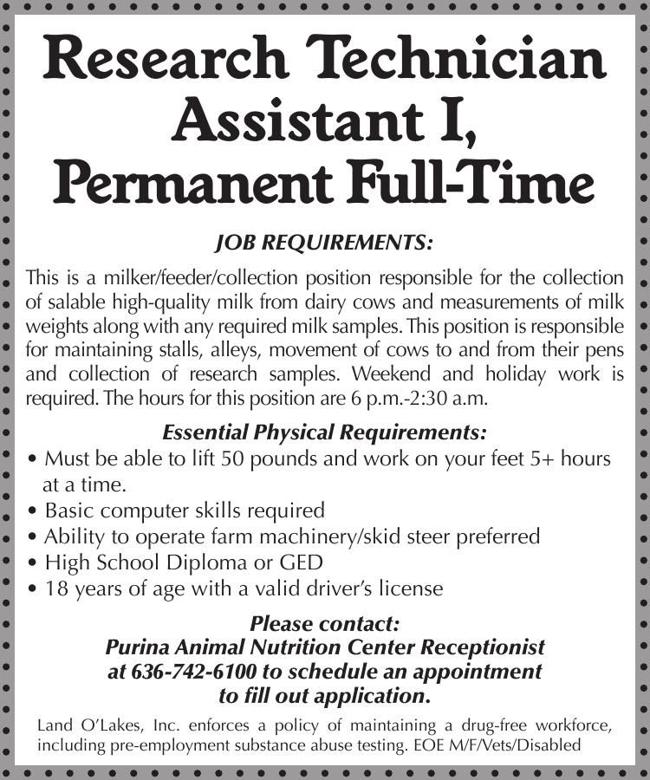 Research Technician Assistant I