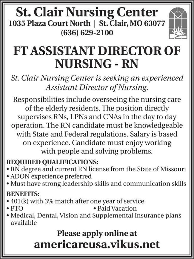 Assistant Director of Nursing