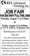 Job Fair - 2nd Shift