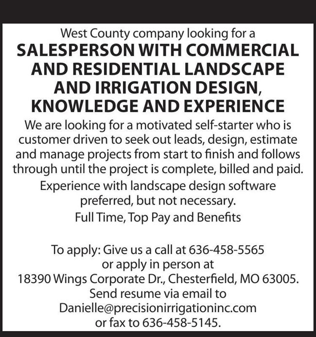 Landscaping & Irrigation Salesperson