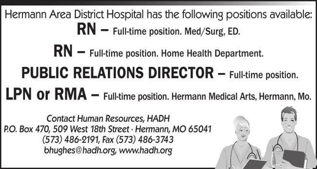 Hermann Area Hospital Now Hiring