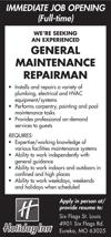 General Maintenance Repairman