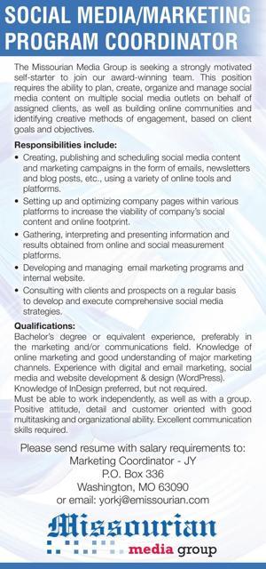 Social Media/Marketing Program Coordinator