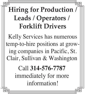 Multiple Manufacturing Positions Open