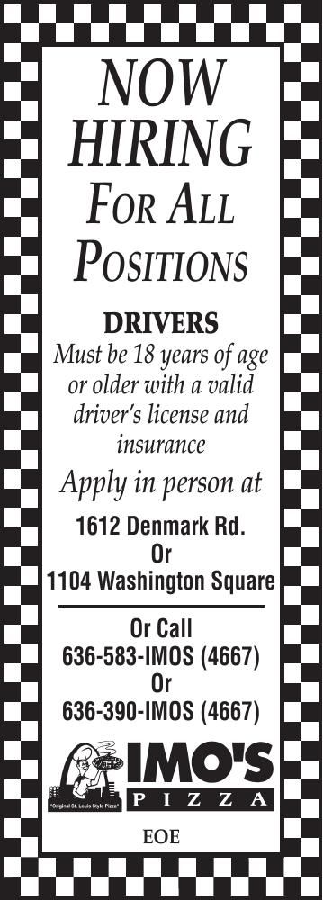 Now Hiring Delivery Drivers