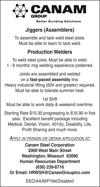 Jiggers & Production Welders
