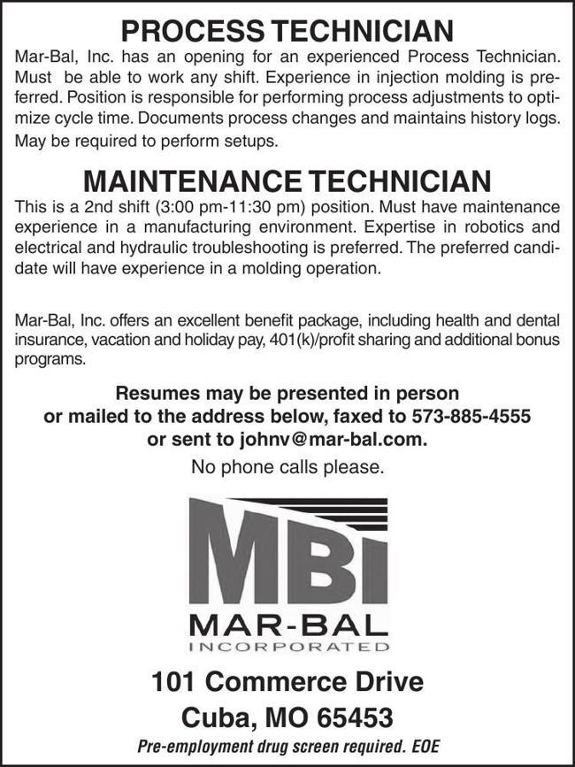 Process Technician / Maintenance Techinican