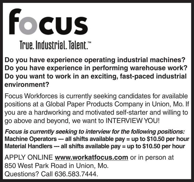 Machine Operators & Material Handlers