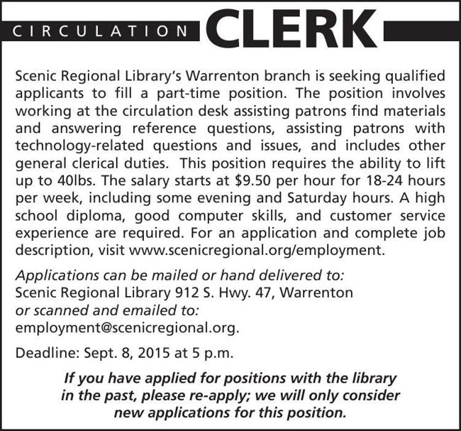 Circulation Clerk