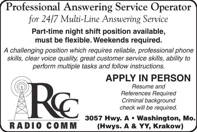 Professional Answering Service Operator