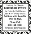 Class A Experienced Drivers