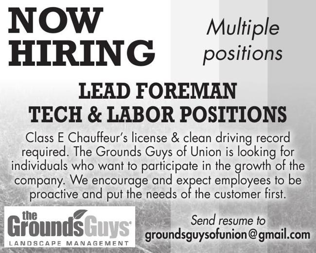 Lead Foreman / Tech & Labor Positions
