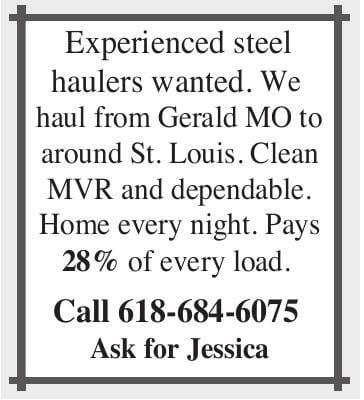 Experienced Steel Haulers Wanted