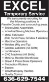 Factory Positions Available
