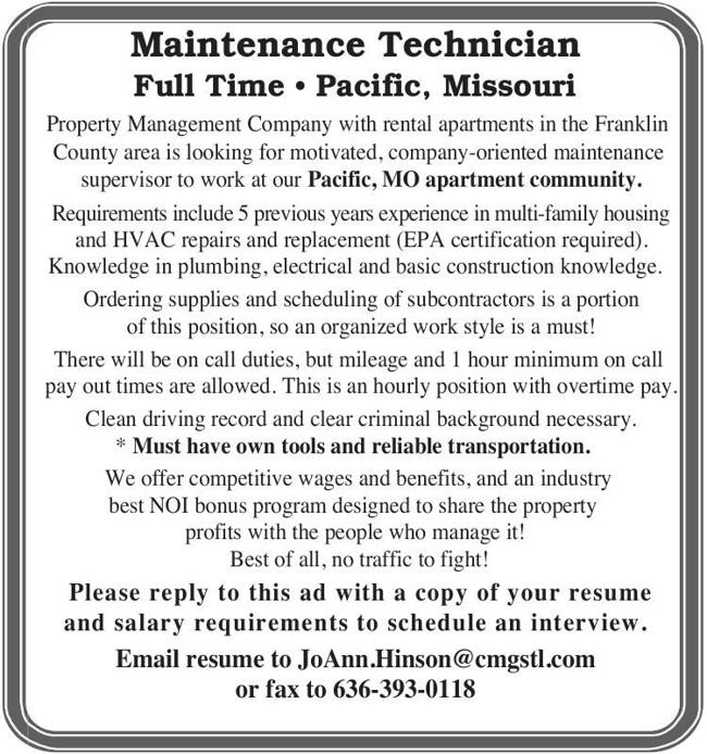 Maintenance Technician