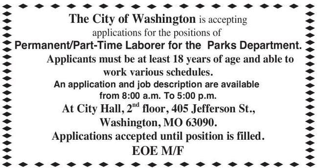 Part Time Parks Department Laborer