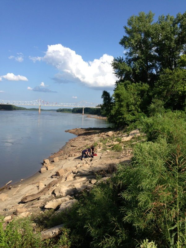 Rescue from Mo River Bank 071613_2