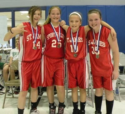 Third-Place Team for Fifth- and Sixth-Grade Girls