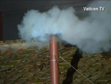 White Smoke Signifying New Pope Chosen