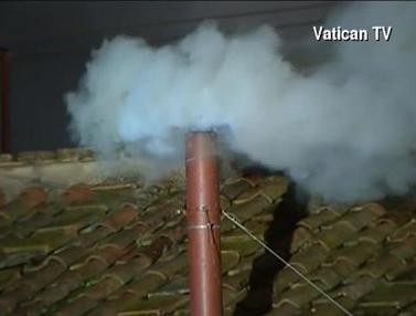 White Smoke Signifying New Pope Chosen