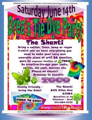 Drea's Tie Dye Party Poster