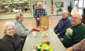 Al Harding Shares Pizza for His Birthday