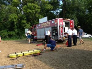 Rescue from Mo River Bank 071613_5