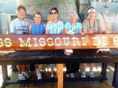 USS Missouri Sign