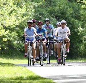 Borgia Students Ride Bicycles
