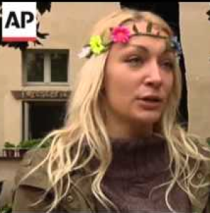 Ukrainian Feminist Protestor