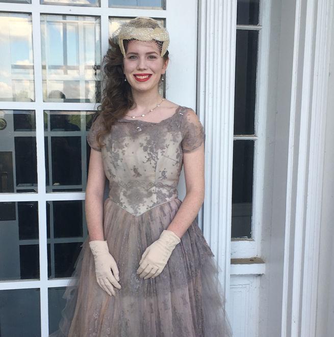 Wears Vintage Dress to Prom