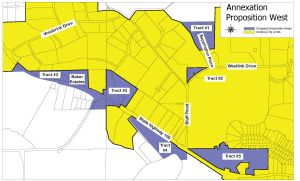 West Area Annexation Map