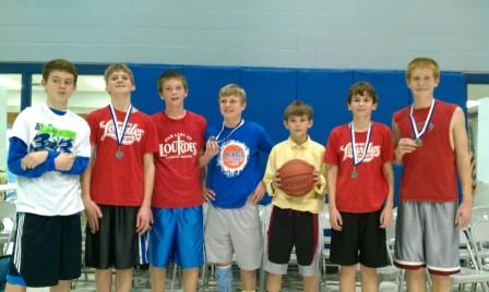 Second-Place Team for Eighth-Grade Boys