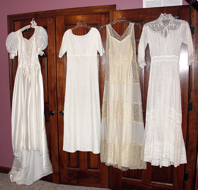 Four Generations of Wedding Dresses