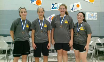 Third-Place Team for Seventh- and Eighth-Grade Girls