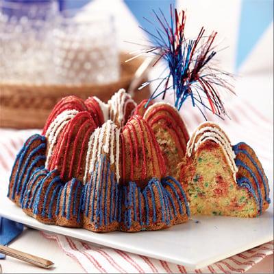 Hot Cinnamon Fireworks Cake
