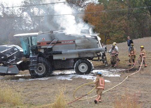 Emergency Crews Battle Combine Fire Thursday