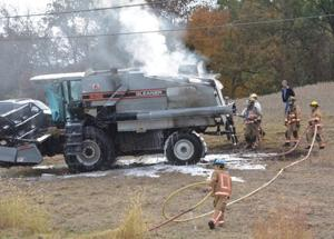 Emergency Crews Battle Combine Fire Thursday