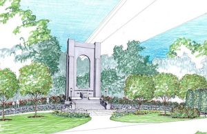 Bridge Pier Memorial Rendering