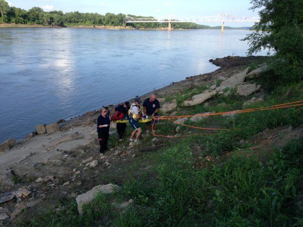Rescue from Mo River Bank 071613_3
