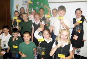 St. Bridget Students Make Peace Mobiles