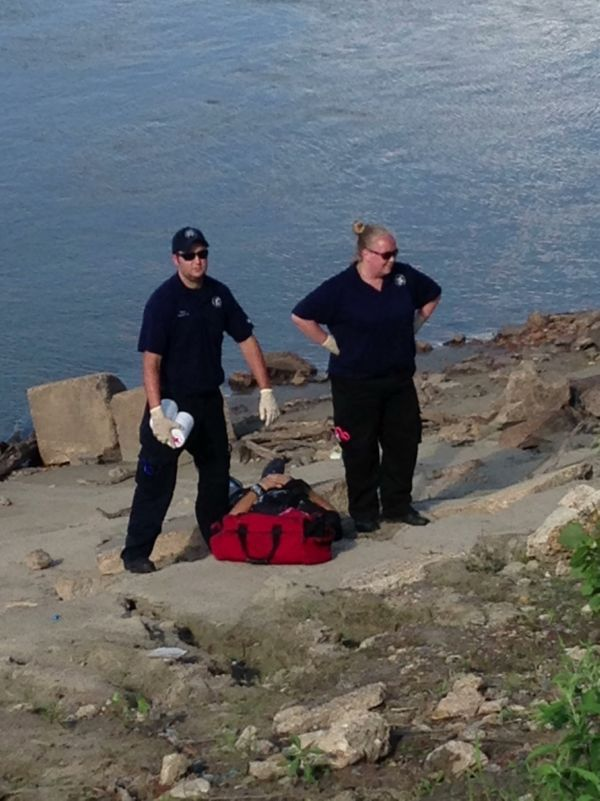 Rescue from Mo River Bank 071613_6