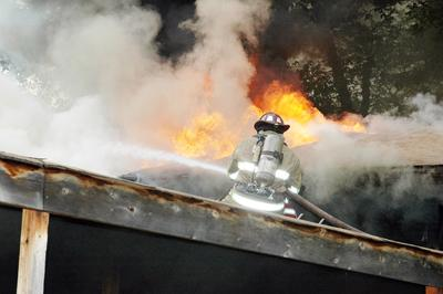 Fighting Mill Hill Road Fire