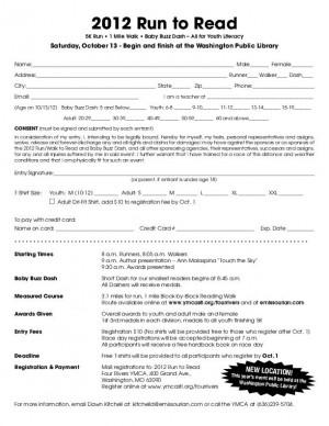 Run to Read Registration Form