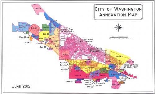 Washington Annexation Map