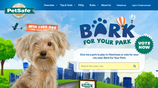 Bark for Your Park website