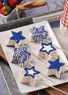 No-Bake Cheesecake Star Pops