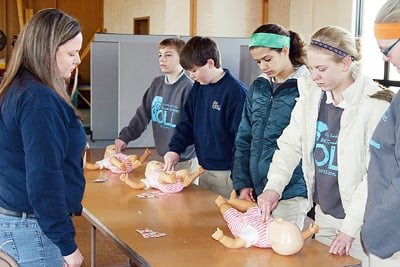 OLL Eighth-Graders Learn Infant CPR