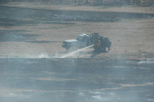 Crews Battle Brush Fire in State Forest South of St. Clair